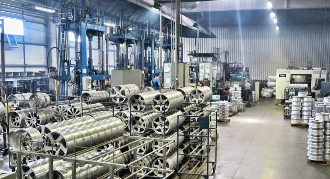 Hayes Lemmerz Wheel Rim Manufacturing Line Automation
