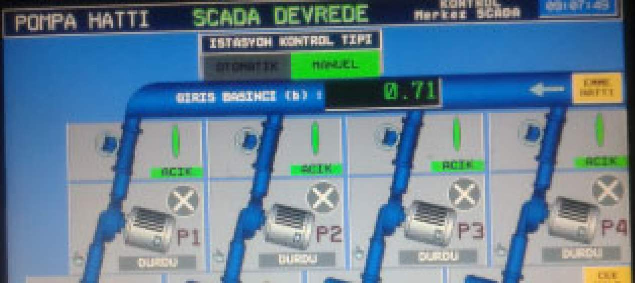 Konya Municipality Potable Water Network SCADA Center